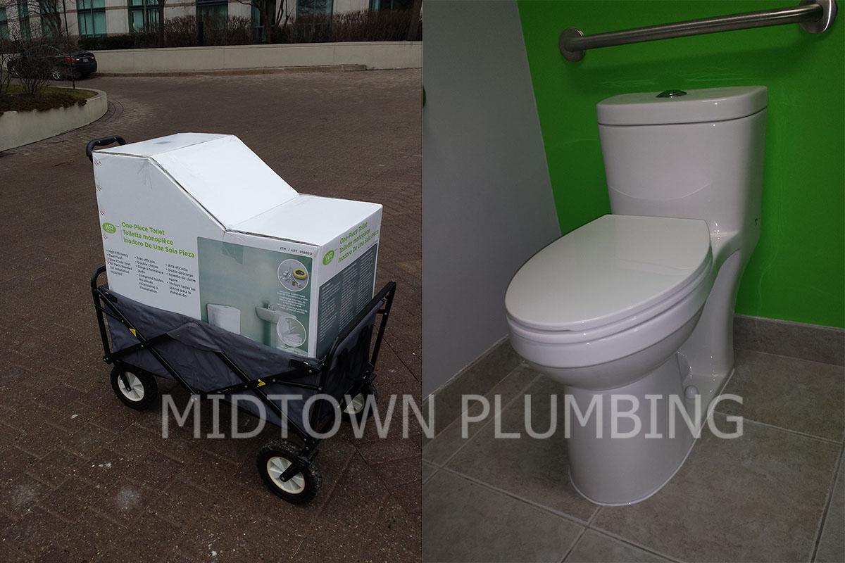 Toilet replacement or repair